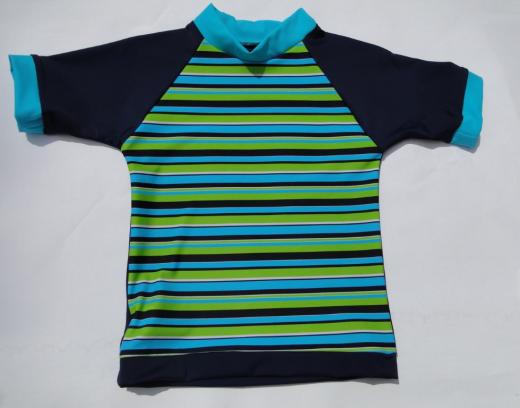 Miami Blau und Grün - UV50+ Rash Sonnenhemd