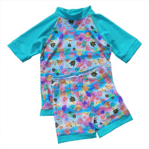 Little Mermaid - ECO UPF50+ Sonnenschutzhemd & Hose Set Turkis