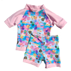 Little Mermaid - ECO UPF50+ Rash shirt and short set
